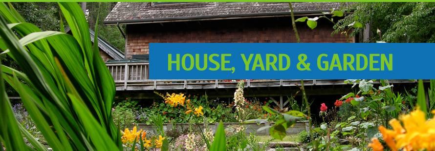 House, yard and garden