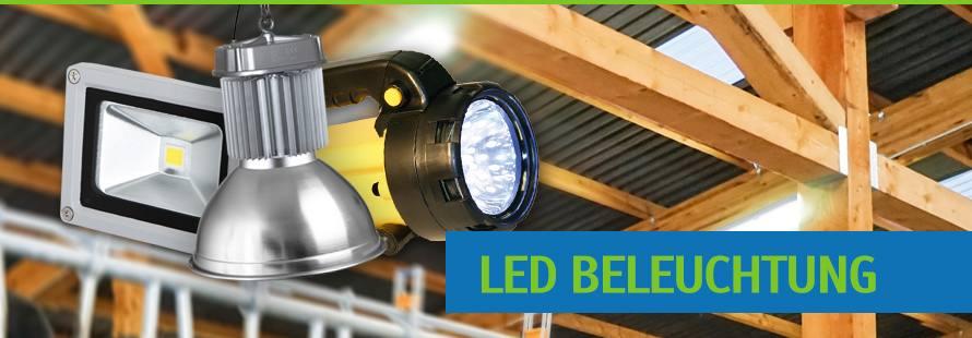 Beleuchtung Led Werkstatt : LED Hallenstrahler, Au?enstrahler f?r Halle, Stall und Gewerbe