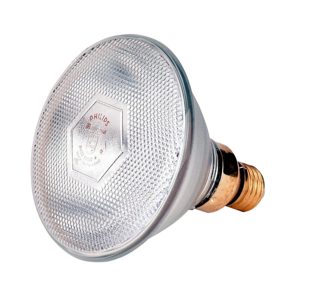 infrarotsparbirne philips 175 watt wei wei licht energiesparlampe e27. Black Bedroom Furniture Sets. Home Design Ideas