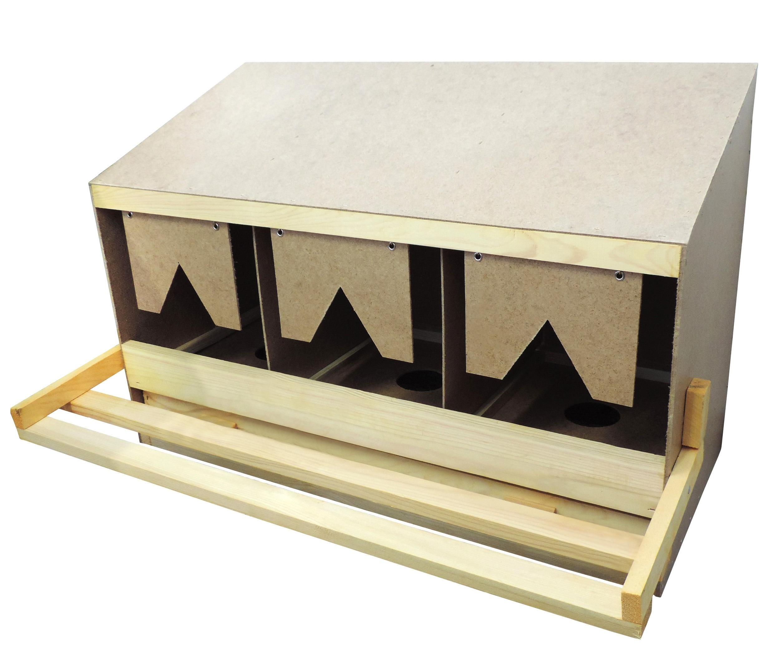 legenest mit 3 einzelnestern f r gro e h hner rassen. Black Bedroom Furniture Sets. Home Design Ideas