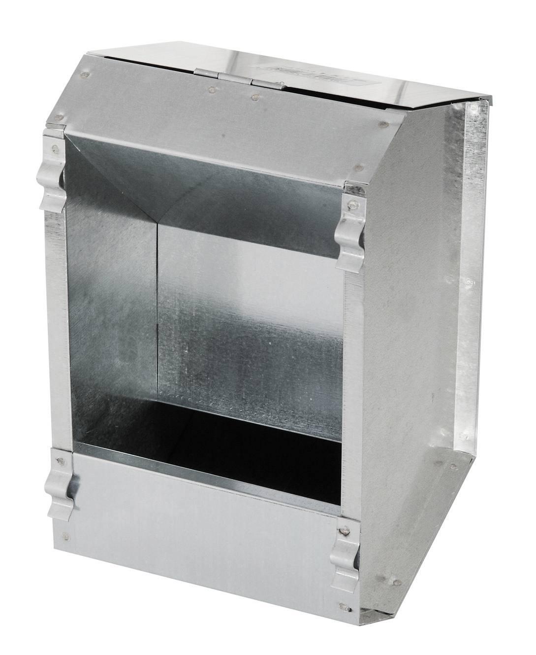kaninchen futterautomat aus blech fassungsverm gen 2 2l. Black Bedroom Furniture Sets. Home Design Ideas