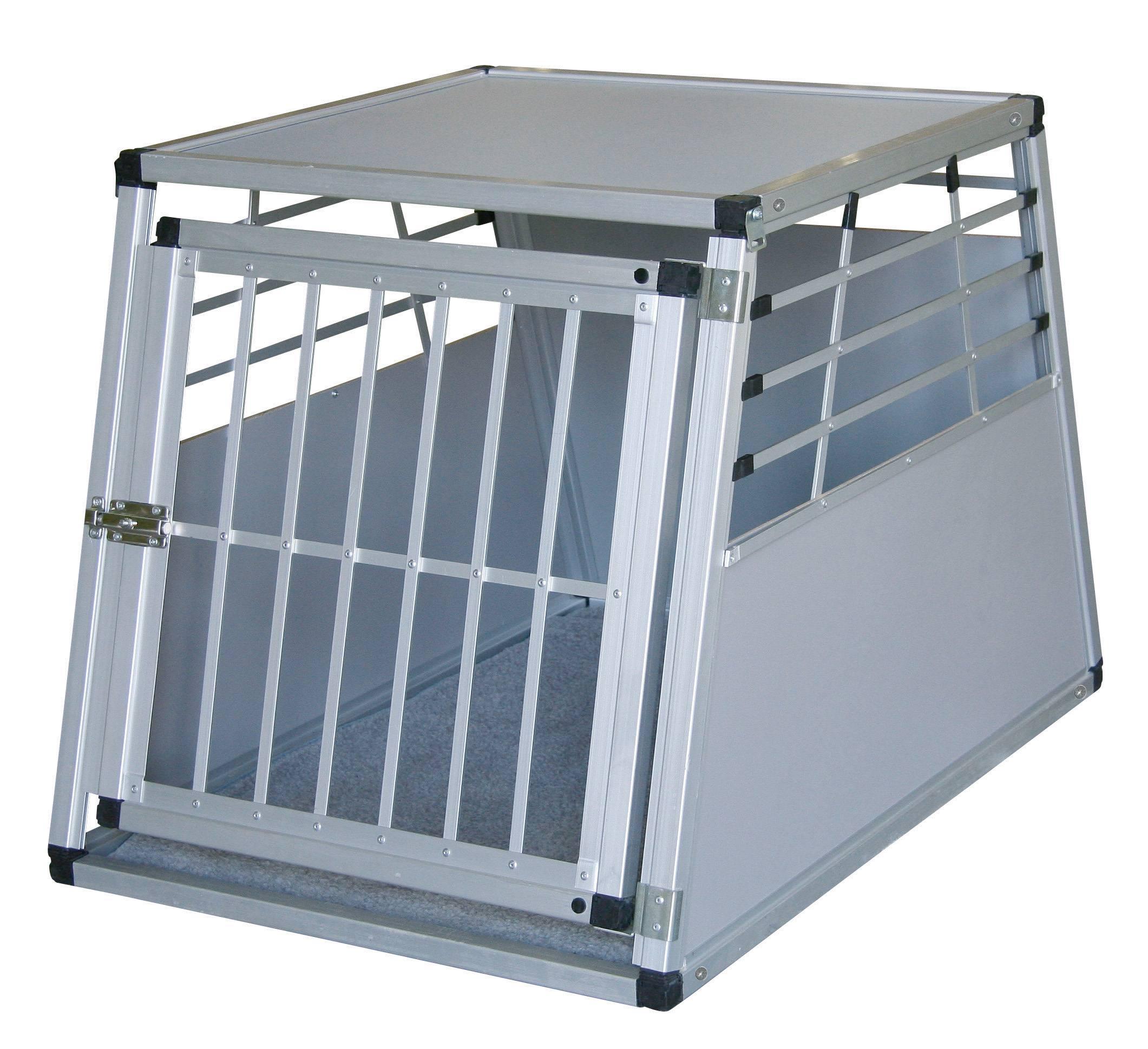 hunde transportbox 92 x 65 x 65 cm aus aluminium. Black Bedroom Furniture Sets. Home Design Ideas