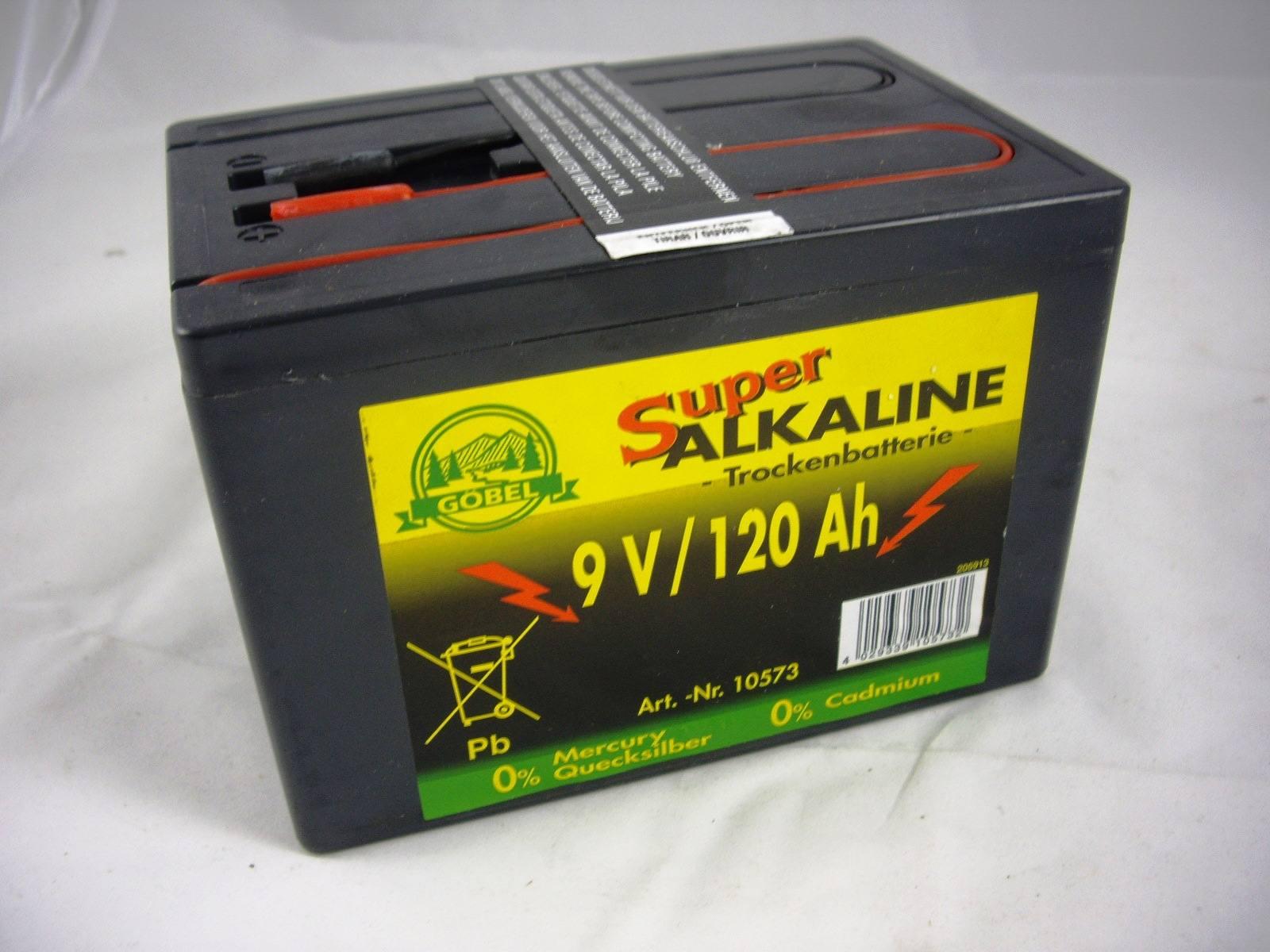 Weidezaunbatterie Alkaline 9Volt 75AH Weidezaun Batterie f Weidezaungerät
