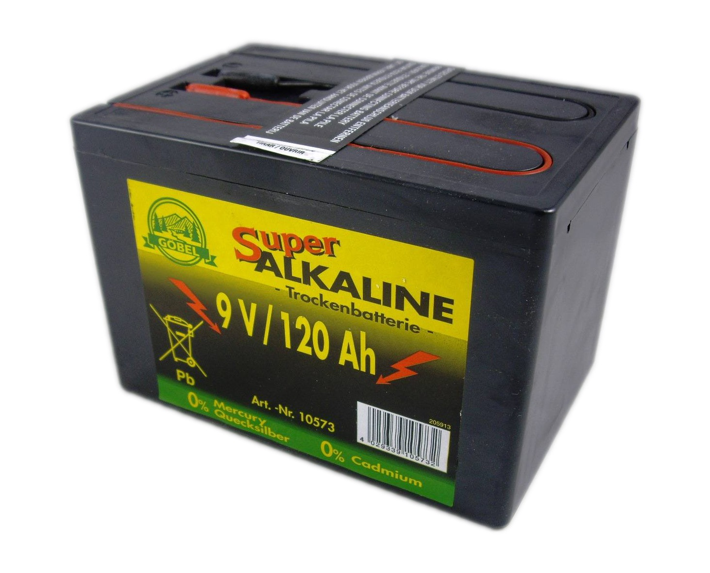 Batterie 9V//75Ah Alkaline Weidezaunbatterie für Elektrozaun Trockenbatterie