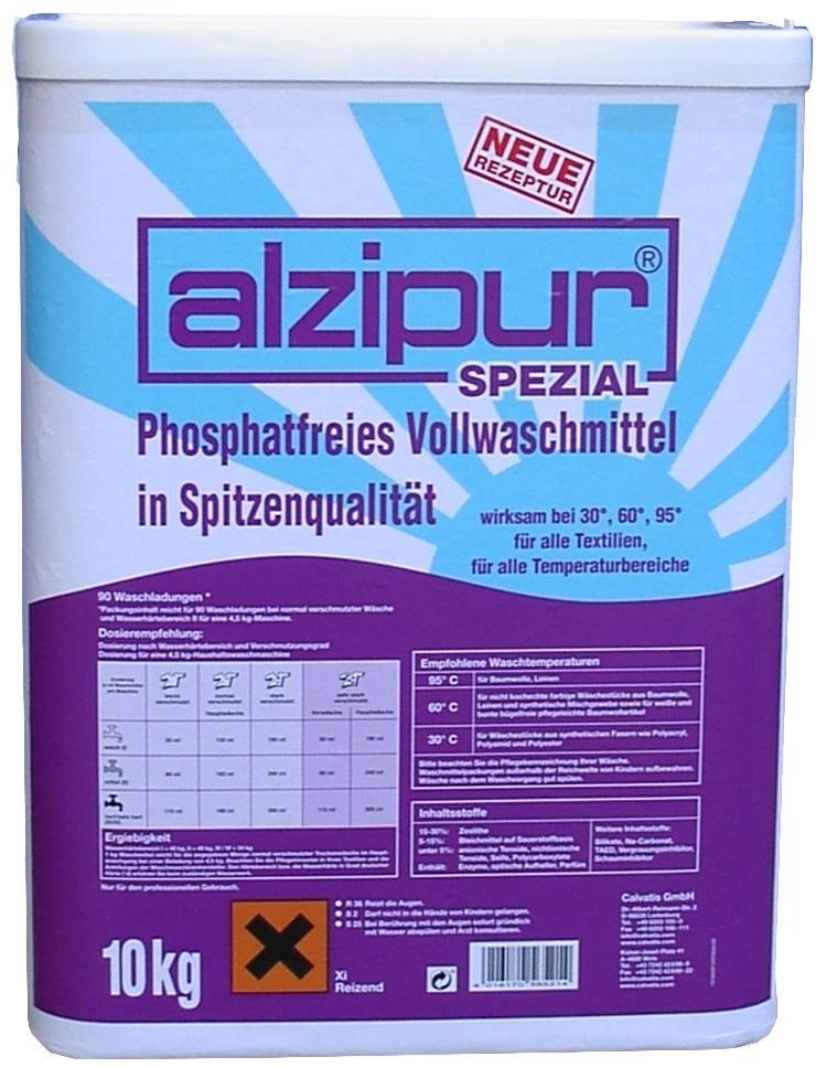 waschpulver alzipur spezial 10 kg phosphatfrei waschmittel. Black Bedroom Furniture Sets. Home Design Ideas