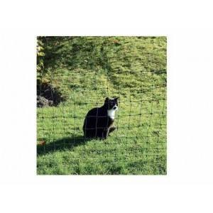 Netz für Katzen in grün (25 m x 75 cm) inkl. 9 Pfähle