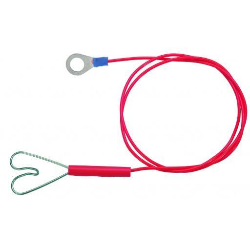 Zaunanschluß Kabel mit Herz Klammer