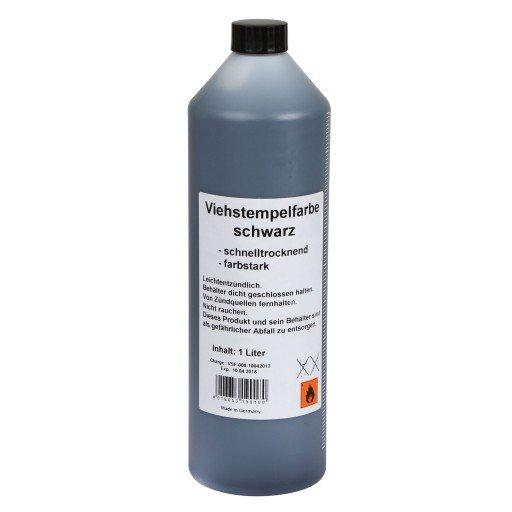Schlagstempelfarbe, schwarz 1 Liter Viehstempelfarbe