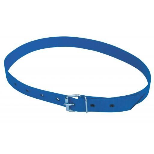 Halsmarkierungsband 120 cm, mit Rollschnalle blau