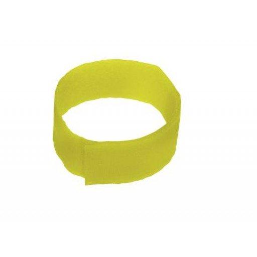 Fesselband Klettverschluß, 10 Stück gelb