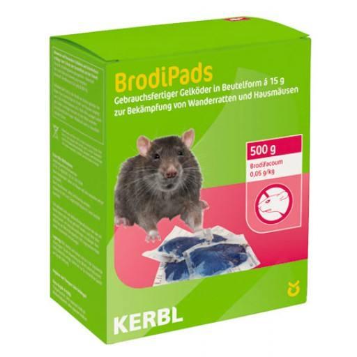BrodiPads Gelpad 500 g Portion 15 g Abp. (Brodifacoum)