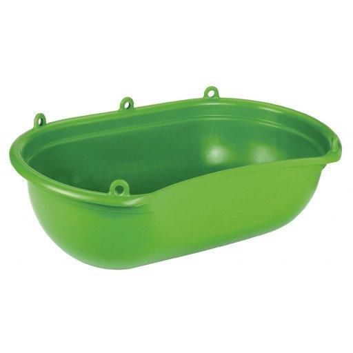 Streuwanne  mit Mulde aus grünem Kunststoff 20 l. ohne Gurt, grün