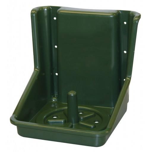 Salz-Lecksteinhalter in grün aus PVC für runde und eckige Steine - Halterung/Halter für Lecksteine