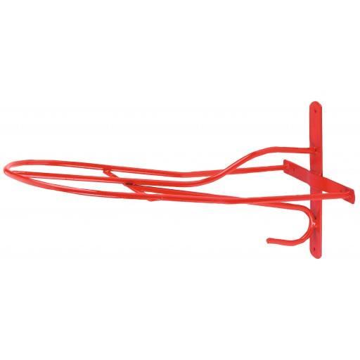 Sattelhalter englisches Modell, 54 cm, rot