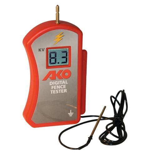 Digital Voltmeter AKO zur exakten Messung der Spannung am Zaun von 0 bis 9900 Volt