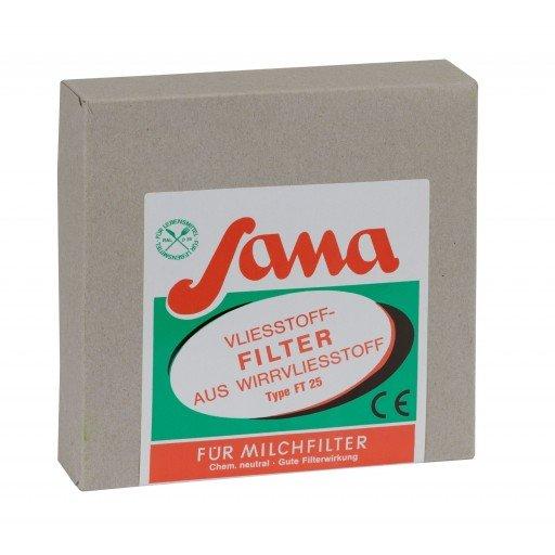 SANA Filterscheiben Kannenvliesfilter 180 mm - Karton 200 Stück