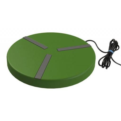 Heizplatte für Geflügeltränken ø 25 cm, 15 W - mit Anti-Rutsch-Streifen an der Oberseite für sicheren Stand der Tränken