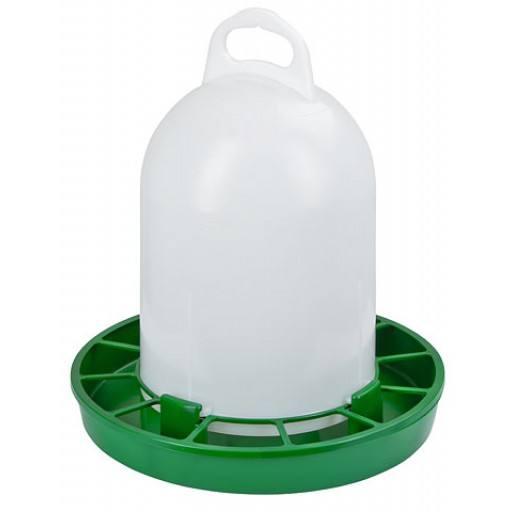 Geflügel-Futterautomat, grün, 1,5 kg - zum Stellen oder Aufhängen!