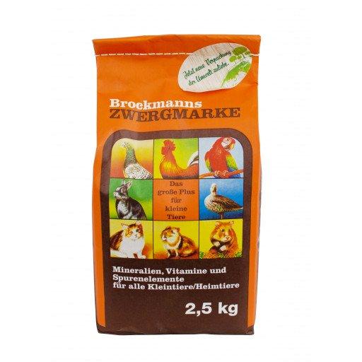 Brockmanns Zwergmarke - 2,5 kg Mineralfutter für Tauben Geflügel und Kaninchen