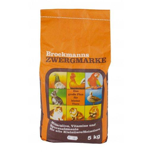 Brockmanns Zwergmarke - 5 kg Mineralfutter für Tauben Geflügel und Kaninchen