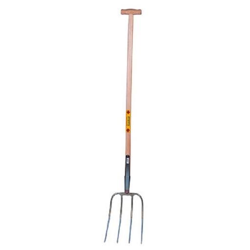 Dunggabel Abt Standard mit T-Griff Stiel 110 cm 4 zinkig Mistgabel Streugabel