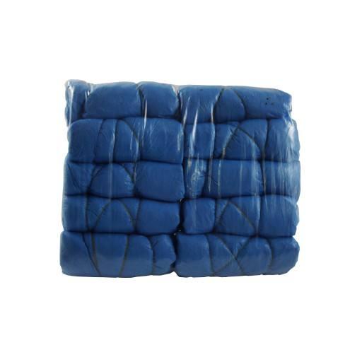Einmalschuhe, blau aus Kunststoff, CPE Überschuh ( Abbildung zeigt Bundle )