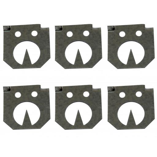 Ersatz Stellplättchen für Zangenfalle 6 Stück/Pack (Nur das Stellplättchen)
