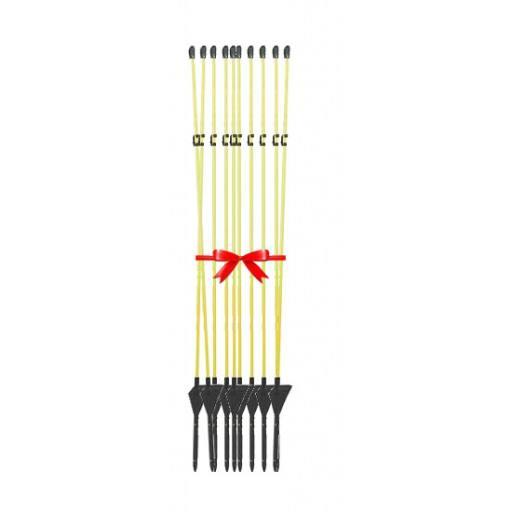 Fiberglasstab mit Metallspitze 152 cm - 10 Stück / Pack