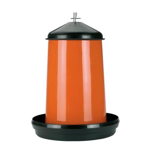 Geflügelfutterautomat 18 kg Kunststoff Orange Schwarz