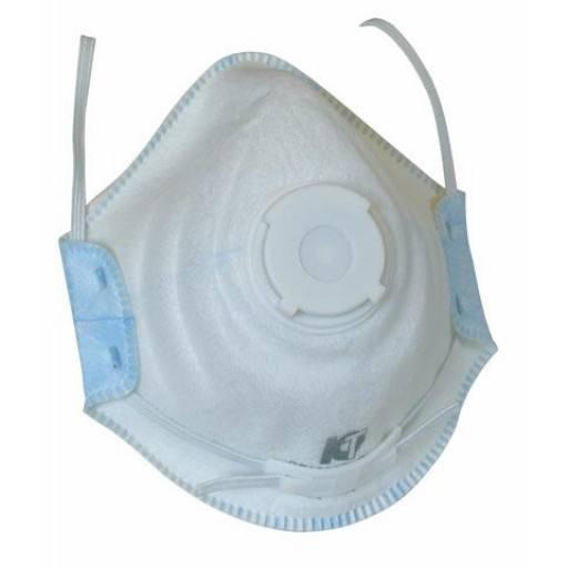 Atemschutzmaske FFP 2 D, mit Ventil, 10 Stück