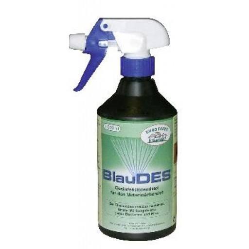 Mastaseptan Blauspray, 500 ml mit Sprühkopf - altbewährtes Mittel zur sichtbaren (Blaufärbung) Flächendesinfektion, wirkt hervorragend gegen Bakterienbildung, Viren und Pilze.