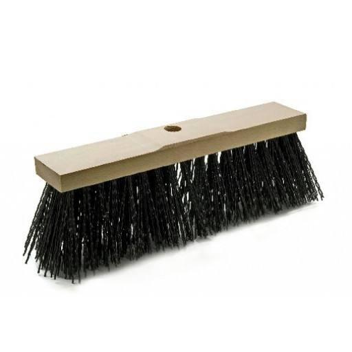 Profi-Straßenbesen 40 cm, lange kräftige schwarze Elastonborsten