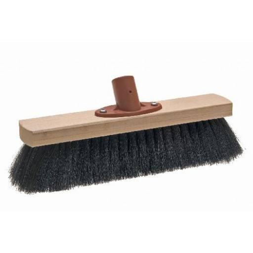 Saalbesen 28 cm, Haar-Mischung, mit Quick-fest-Halter