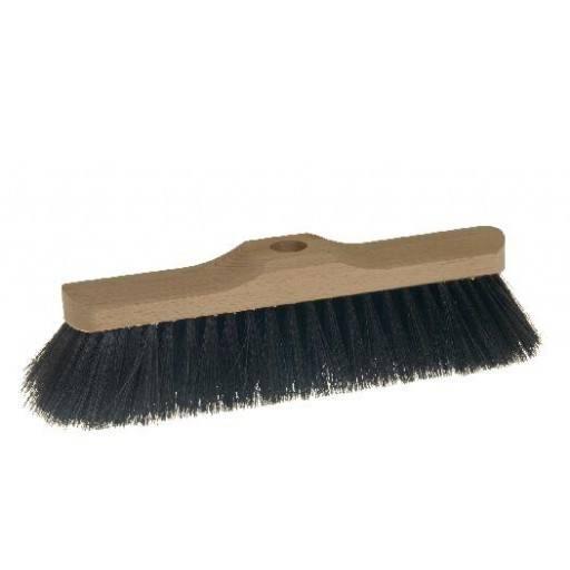 Saalbesen 28 cm, Haar-Mischung, mit Stielloch