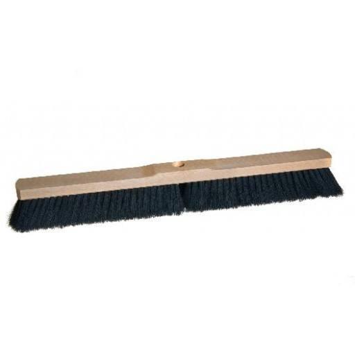 Saalbesen 60 cm, Haar-Mischung, mit Stielloch