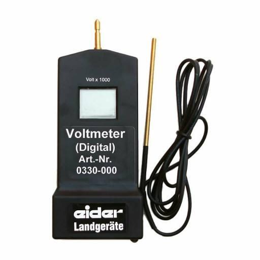 Voltmeter Digital geeignet zum Messen der Zaunspannung am Weidezaun oder der Ausgangsspannung direkt am Weidezaungerät.