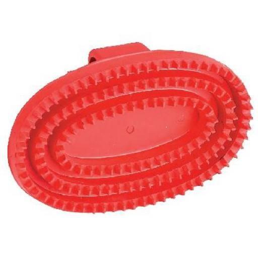 Gummistriegel Junior, oval, rot
