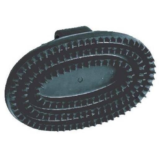 Gummistriegel Junior, oval, schwarz