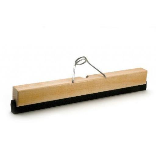 Wasserschieber 40 cm, Holz, mit Halter