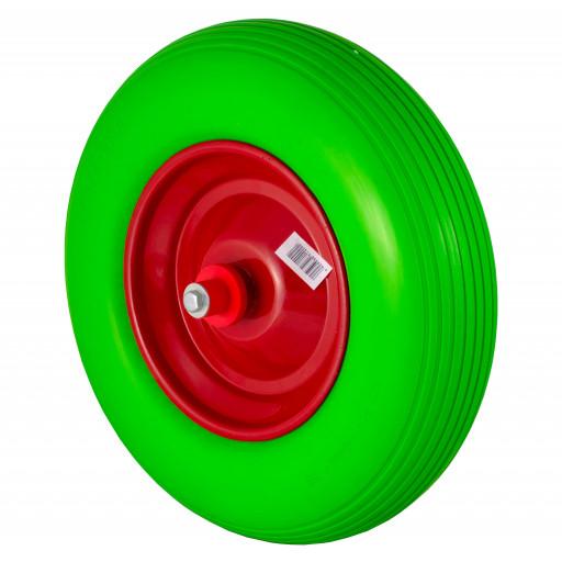 Pannensicherer Reifen aus Polyurethan - grün