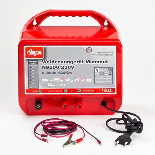 Weidezaun-Netzgerät N 9500 Mammut - Überwachung der Zaunanlage und Betriebsbereitschaft durch LED-Anzeige