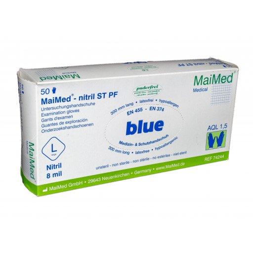 MaiMed-Nitril ST PF Untersuchungshandschuhe L blau