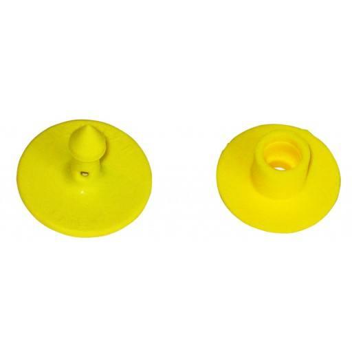 Multiflex R für Schweine, gelb, blanko, Lochteil - 25 Stück/Pack (Default)