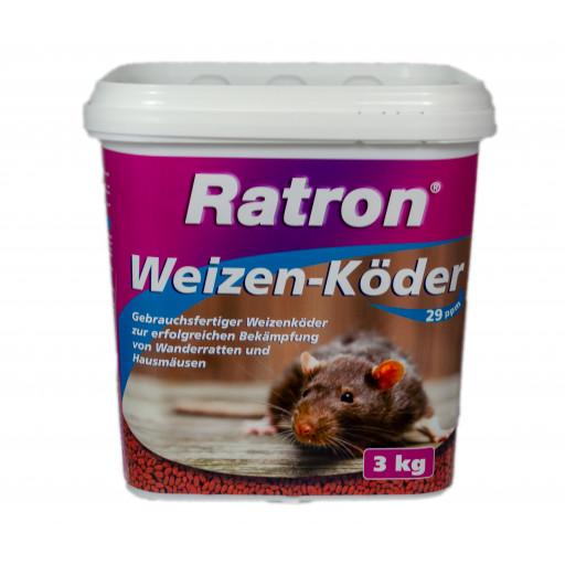 Ratron Giftweizen Weizenköder 3kg Eimer 29ppm