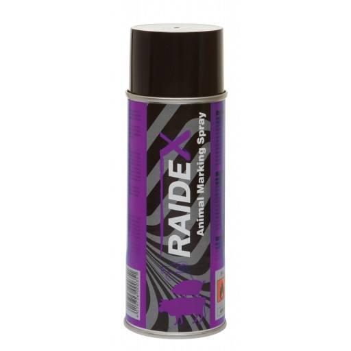 Viehzeichenspray Raidex 400 ml, violett - Markierungsspray für Rinder, Schweine und Ziegen