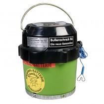 Eider Weidezaun Batteriegerät Cowboy B6 inklusive Batterie speziell für Bullenweiden, Bullenschreck