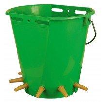 Lammeimer aus Kunststoff mit 6 Saugstellen für die Fütterung von bis zu 6 Lämmern. Lieferung ohne Deckel