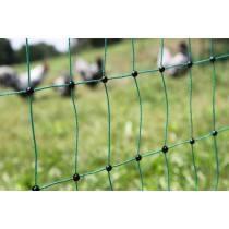 Geflügelnetz grün, elektrisch leitend 50 m / 112cm Doppelspitze - Netz / Zaun für Hühner, Gänse & Puten