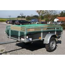Abdecknetz SafeNet Ladungssicherungsnetz 3 m x 2,5 m, 30 mm Maschen. Netz mit 1,8 mm Stärke für PKW-Anhänger, landwirtschaftliche Anhänger, offene Container, LKW-Ladeflächen etc.