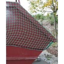Sicherungsnetz für Muldencontainer und Landwirtschaftliche Transporte, PKW-Anhänger etc. Ladungssicherungsnetz 6,5 m x 2,5 m mit 45 mm Maschen und 3,0 mm Stärke